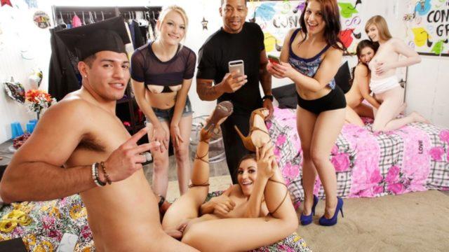 Dolly Leigh Melissa Moore Moka Mora Tony Martinez – Crashing The Party Girls