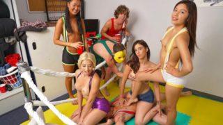 Amy Parks|Cristi Ann|Tony Rubino|Zaya Cassidy – Oil Wrestle
